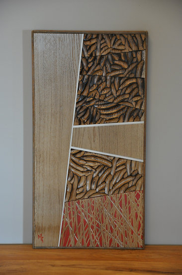 Wall sculpture in wood and steel. By MarKus Furniture.