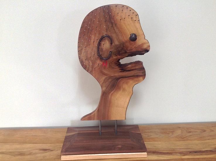 Sculpture contemporaine en bois massif. Designer MarKus Furniture.