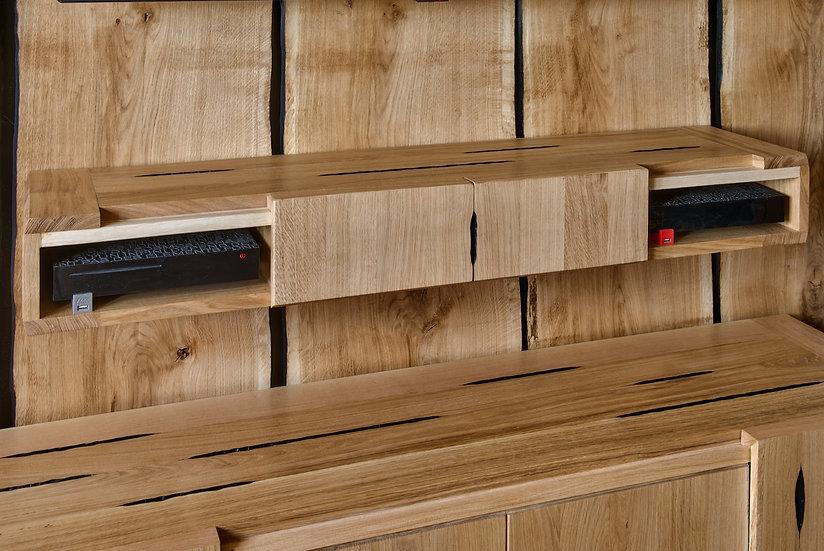Meuble console en bois massif. Meuble TV Design en bois massif. Designer : MarKus Furniture à Nice, French Riviera