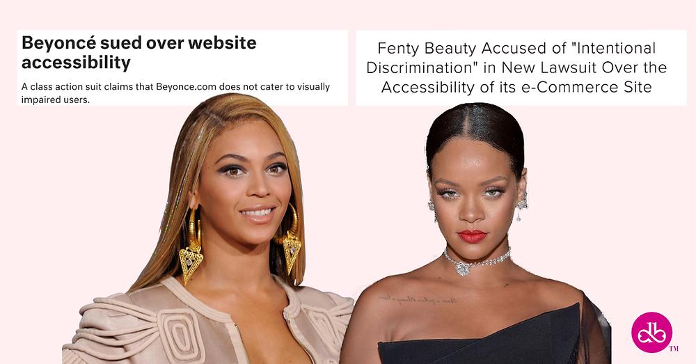 Rihanna & Beyoncé sued over website accessibility