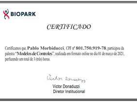 """Biopark te agradece tu participación en la charla """"Modelos de Controles"""""""