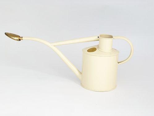 Haws Cream Watering Can w Brass Rose