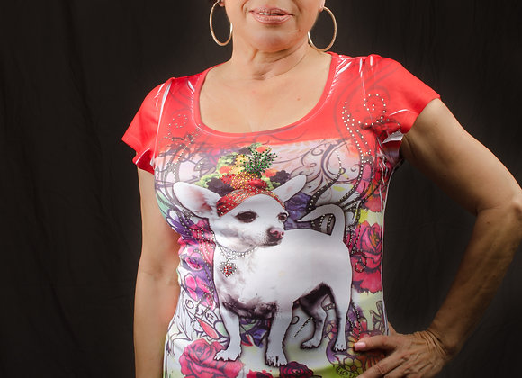 Cha-Cha Carmen Rhinestone Tunic/Mini Dress
