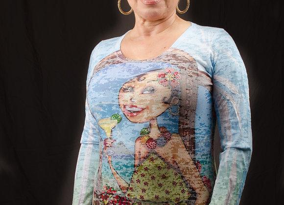 Cathy in Cabo Long Sleeve Rhinestone