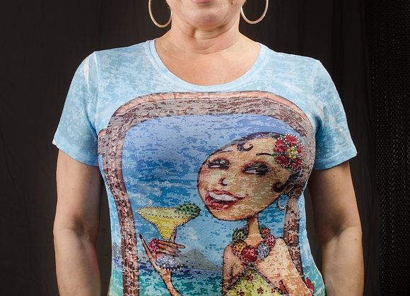 Cathy in Cabo Short-sleeve Rhinestone Tee