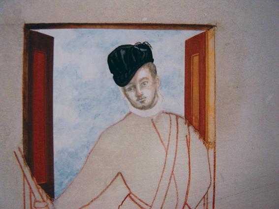 Détail de fresque d'après Véronèse