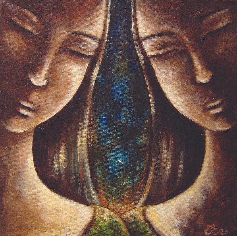 Acrylique sur toile 40 x 40 cm. 2006 Vendu