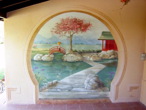 Peinture murale réalisée à la chaux