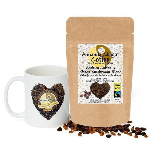 Organic Chaga Mushroom Coffee Lovers 2 Pack (Low Acid, Dark Roast)