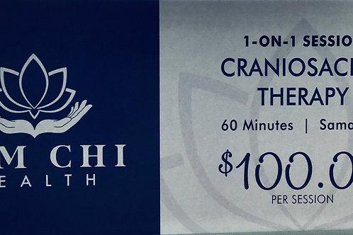 60 Minute CranioSacral Therapy Gift Certificate