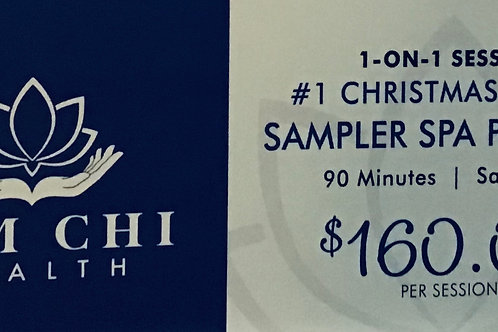 #1 - 90 Minutes  Deluxe Sampler Spa package Gift Certificate