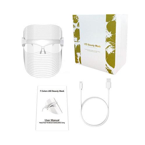 2021 Family, Unisex Home Facial Gift Box -  7 Colour LED Light Facial Shield