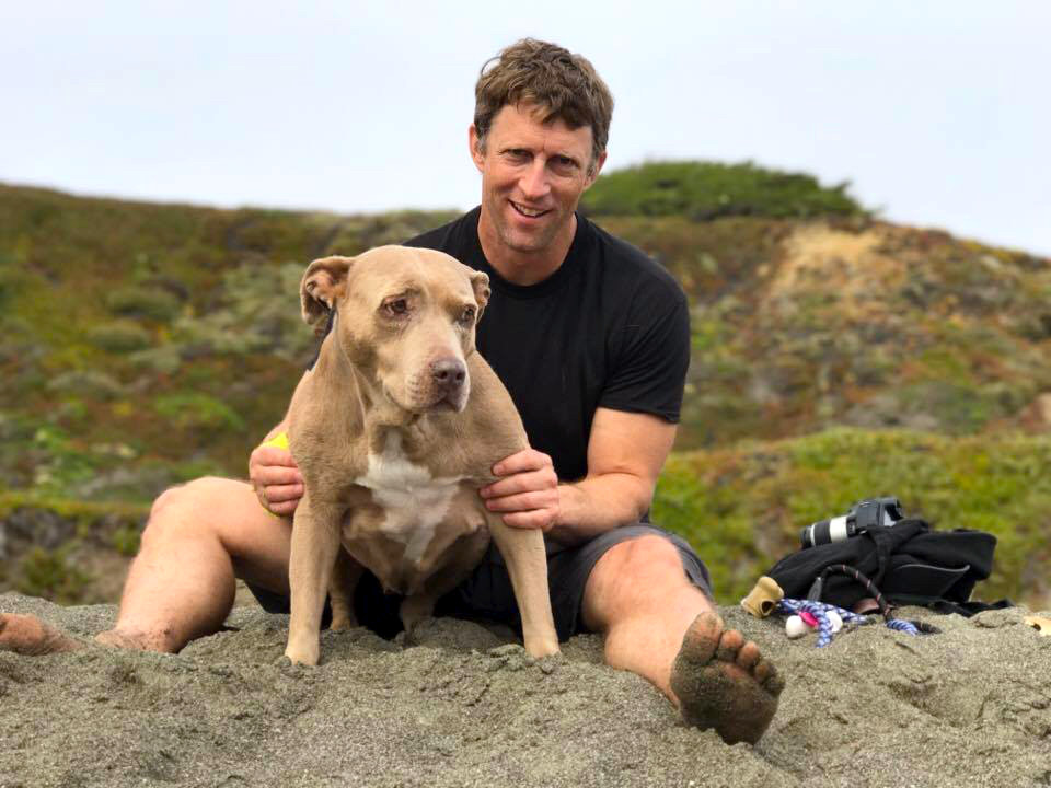 pitbull chip conrad beach california coast