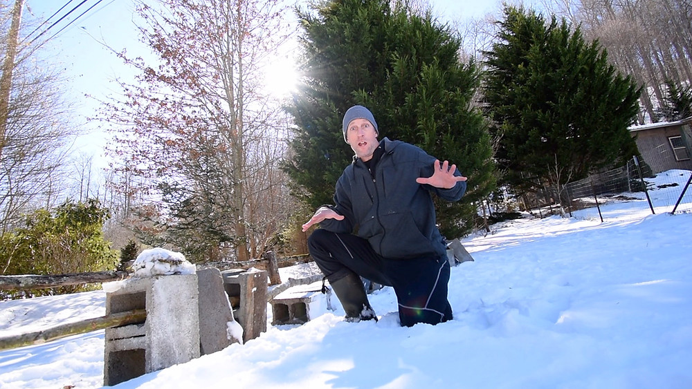 bodytribe snow workout cinder blocks
