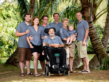 beach portraits for the physically challenged {kauai family portraits}
