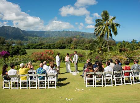 Favorite wedding venue on North Shore, Kaua'i