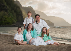 Na Pali coast family portraits