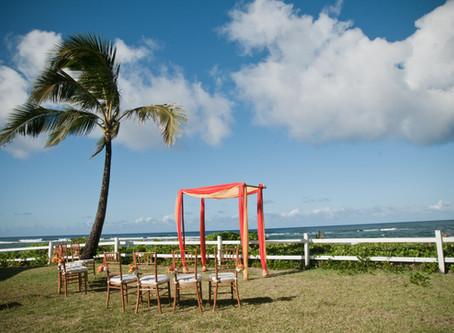 Weddings at Hanalei Colony Resort {kauai wedding photographer}