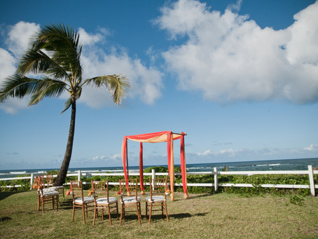 Weddings at Hanalei Colony Resort {kauai wedding photographer}