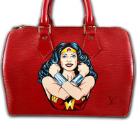 wonder woman painted louis vuitton speed