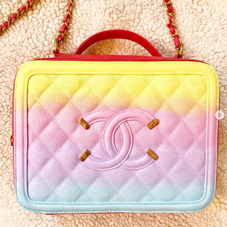 ombre pastel painted Chanel bag