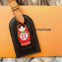 Custom painted Louis Vuitton nesting dol