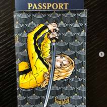 Kill Bill painted Faure le page passport