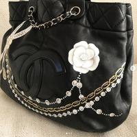 Custom painted Chanel bag