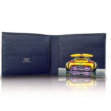 Hand Painted Hermes Mens wallet Porsche