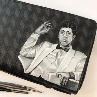 Scarface painted portrait Coach toiletry