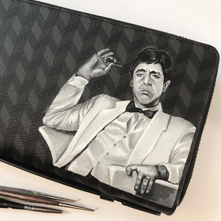Scarface painted portrait Coach toiletry