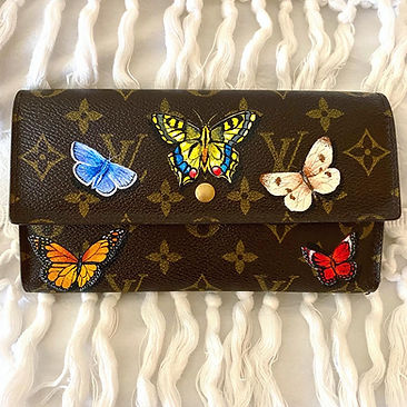 custom butterfly painted Louis vuitton w