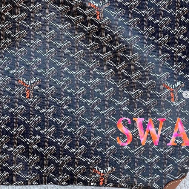 painted Goyard tie dye initials