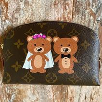 Cute wedding Bears custom painted design