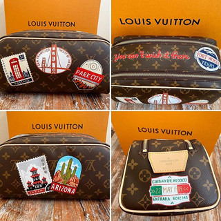 Louis Vuitton Stamps Custom dopp kit