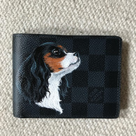 Pet portrait Louis Vuitton LV painting