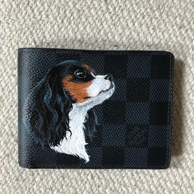 Pet portrait Louis Vuitton LV painting