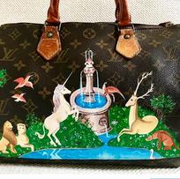 The Last Unicorn painted Louis Vuitton Speedy