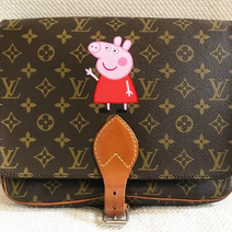 peppe pig painted LV Louis Vuitton