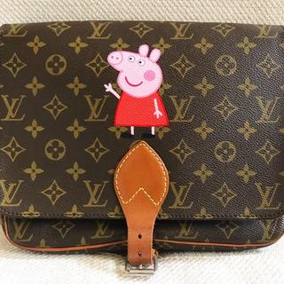 Peppa Pig painted Louis Vuitton messenger
