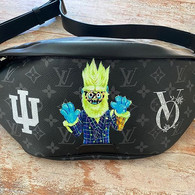 Thingamajig Custom painted LV bag for Vi