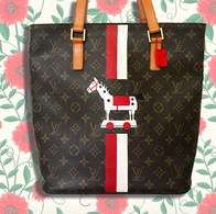 Louis Vuitton Stripes and logo bag