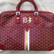 Goyard painted stripes and monogram with