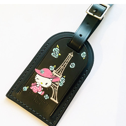 Hello Kitty in Paris Louis Vuitton Luggage Tag