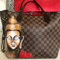 Louis Vuitton painted Buddha