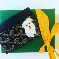 Puppy painting  cardholder