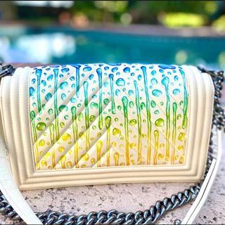 Hand painted custom chanel boy bag water