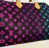 Painted monogram ombre Louis Vuitton bag