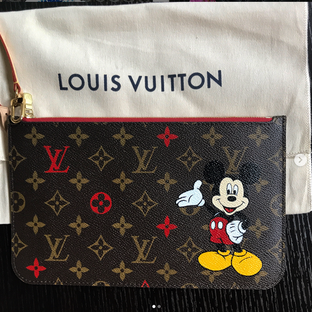 Mickey Mouse painted Louis Vuitton monog