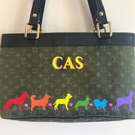 Dog DNA painted Louis Vuitton bag
